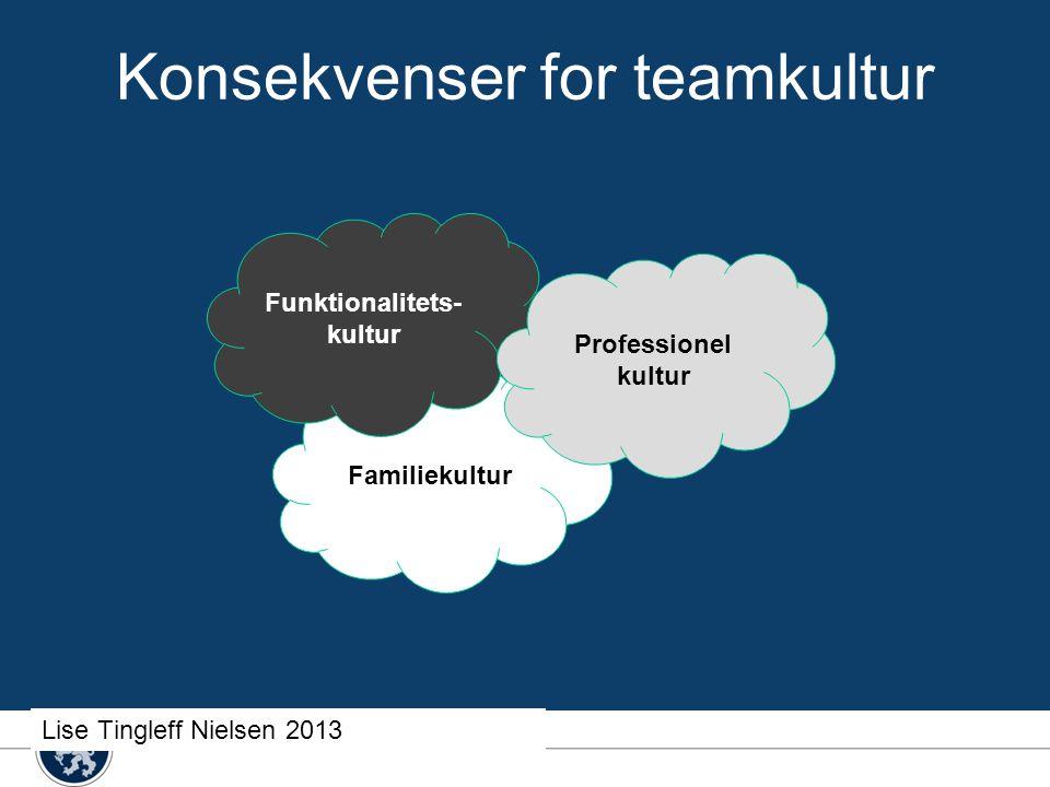 Konsekvenser for teamkultur