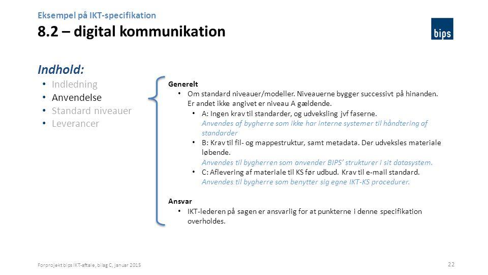 Eksempel på IKT-specifikation 8.2 – digital kommunikation