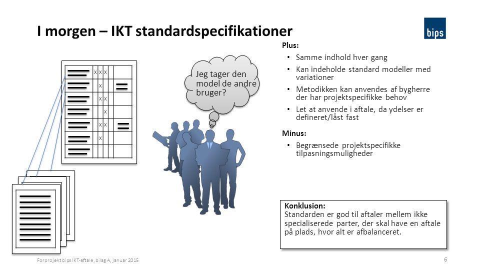 I morgen – IKT standardspecifikationer
