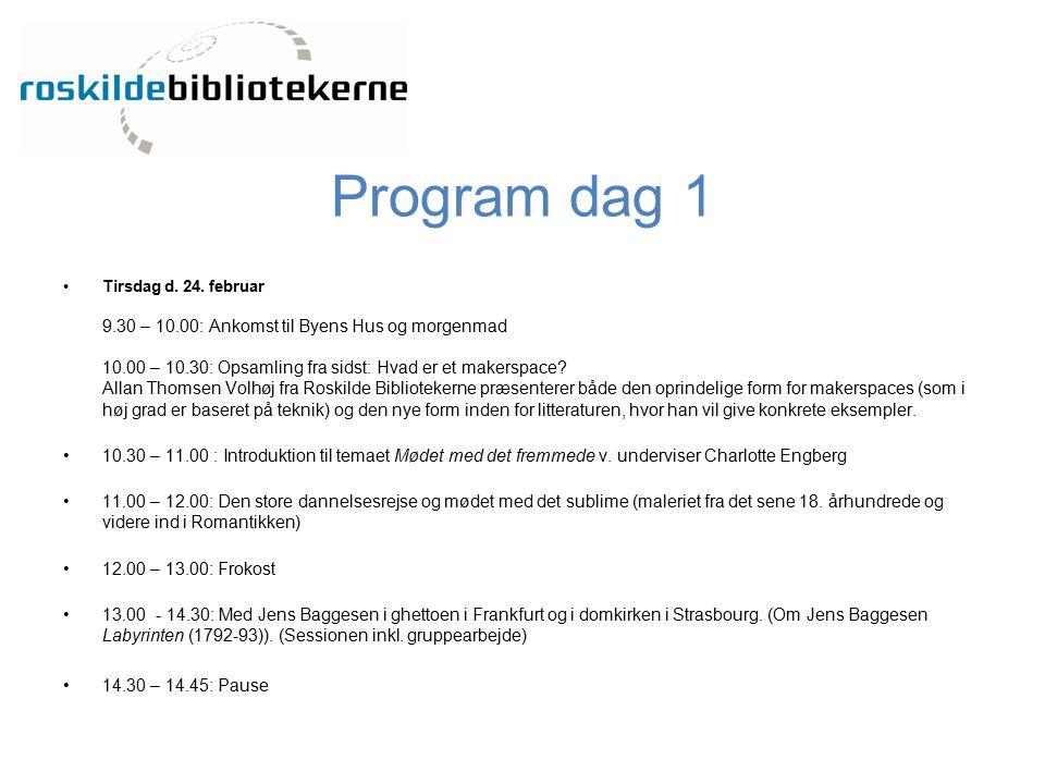 Program dag 1