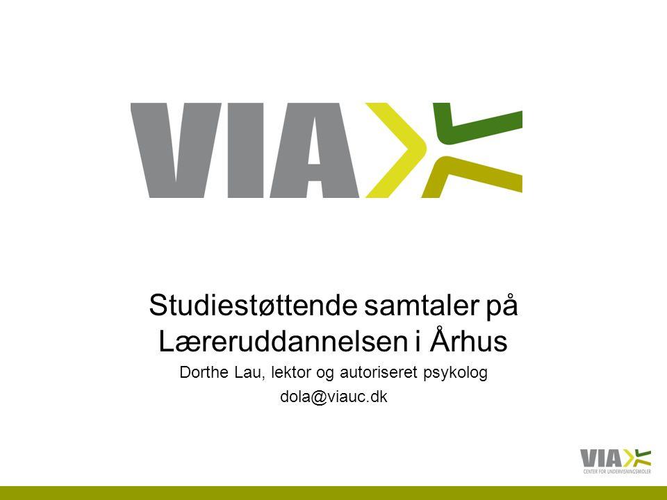 Studiestøttende samtaler på Læreruddannelsen i Århus