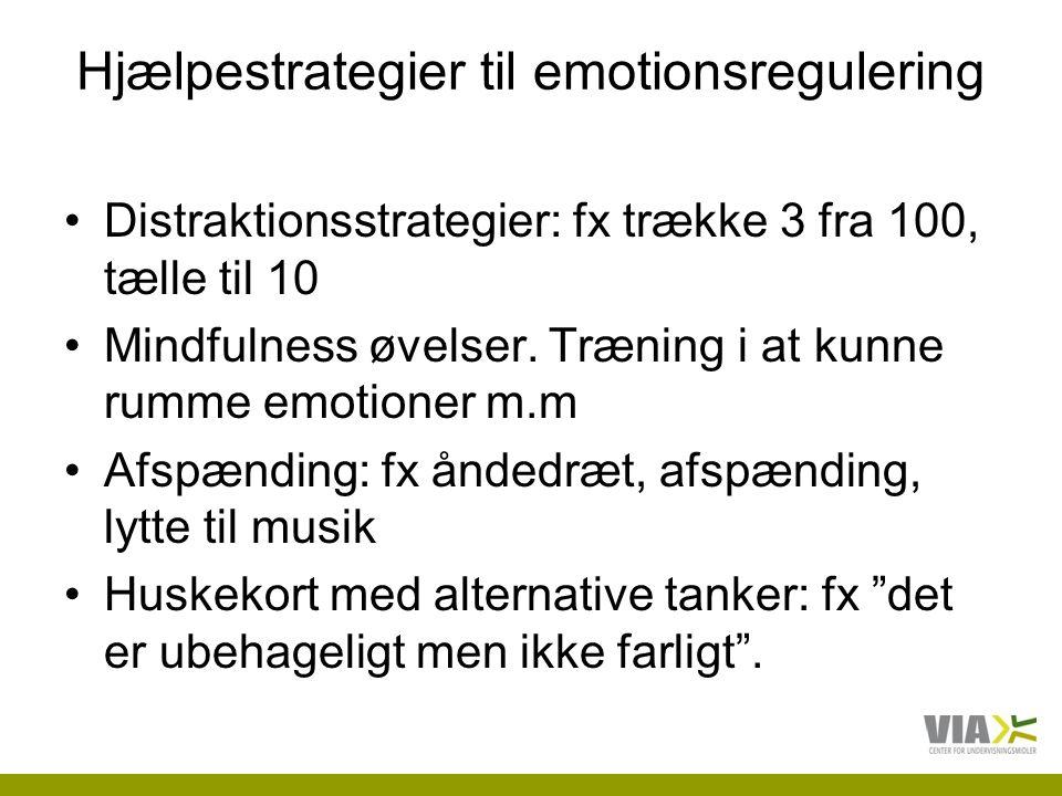 Hjælpestrategier til emotionsregulering