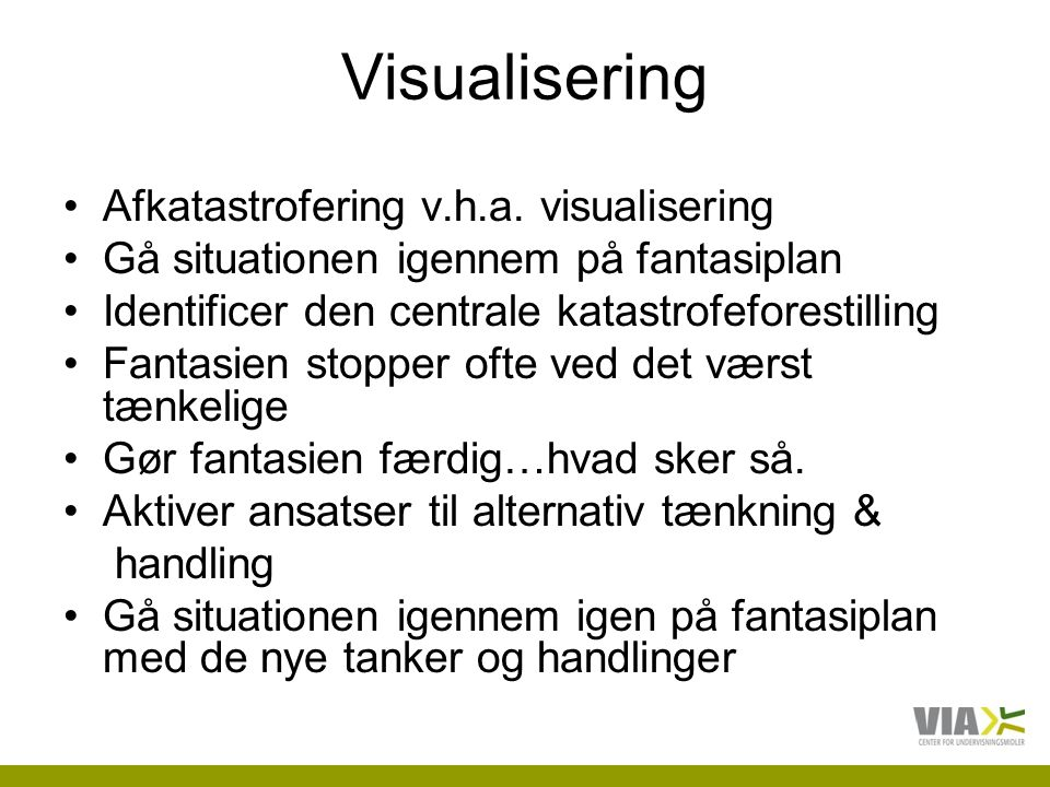 Visualisering Afkatastrofering v.h.a. visualisering