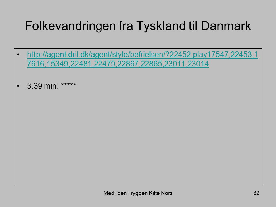 Folkevandringen fra Tyskland til Danmark