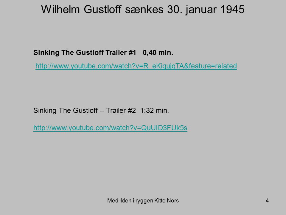 Wilhelm Gustloff sænkes 30. januar 1945