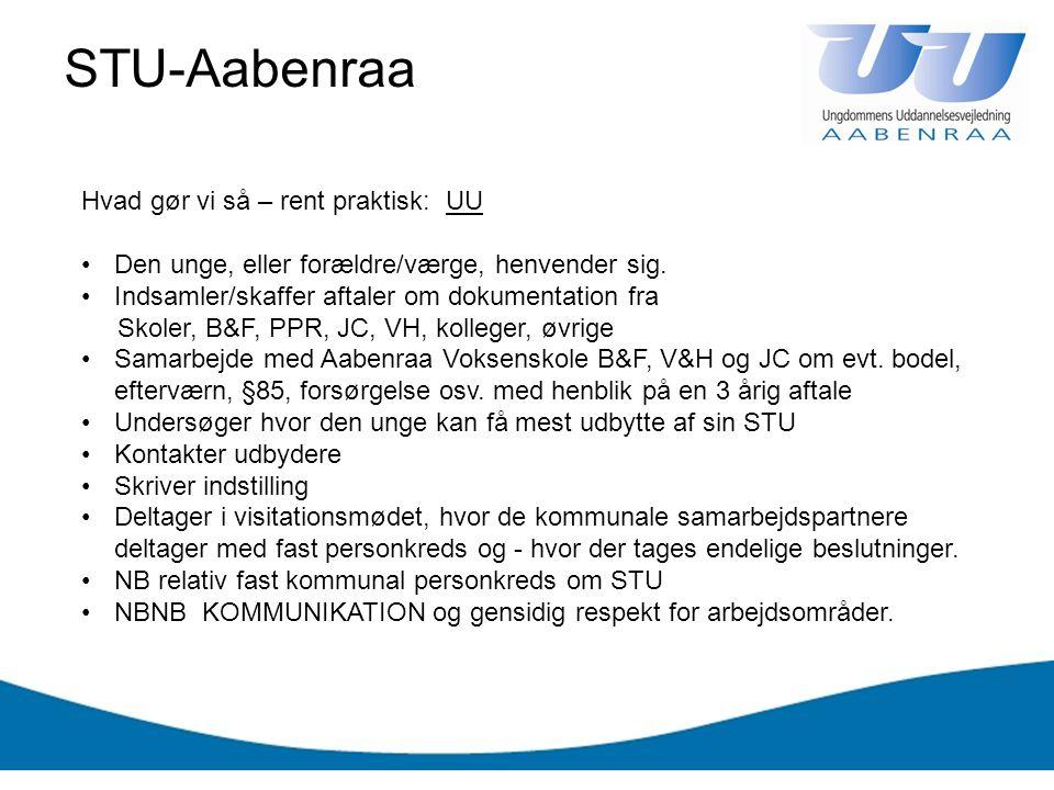 STU-Aabenraa Hvad gør vi så – rent praktisk: UU