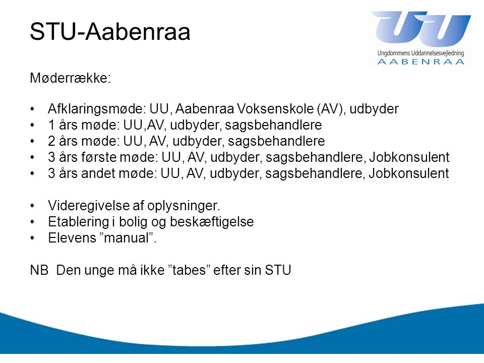 STU-Aabenraa Møderrække: