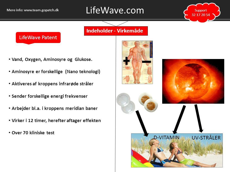 LifeWave.com Indeholder - Virkemåde LifeWave Patent D-VITAMIN