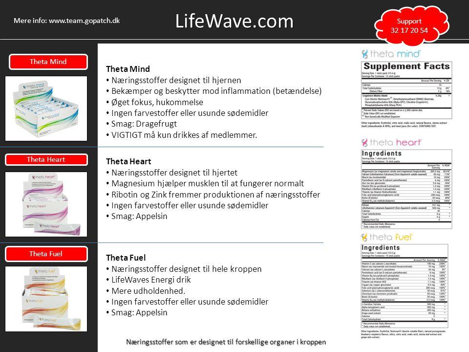 LifeWave.com Theta Mind Næringsstoffer designet til hjernen