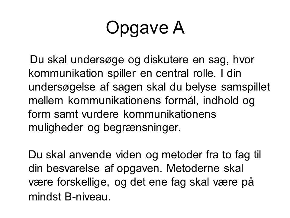 Opgave A