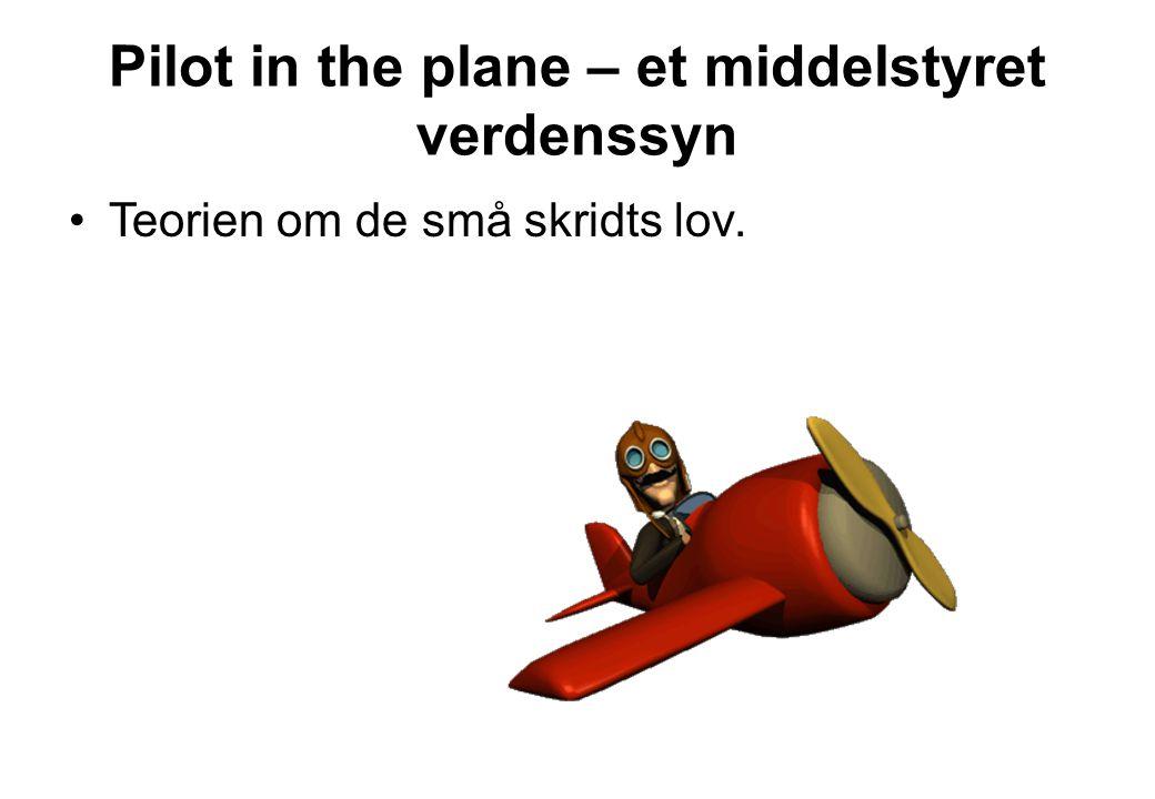 Pilot in the plane – et middelstyret verdenssyn