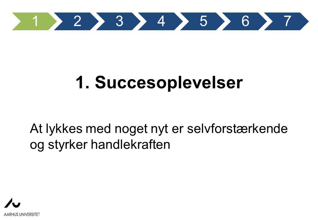 1 2. 3. 4. 5. 6. 7. 1. Succesoplevelser.