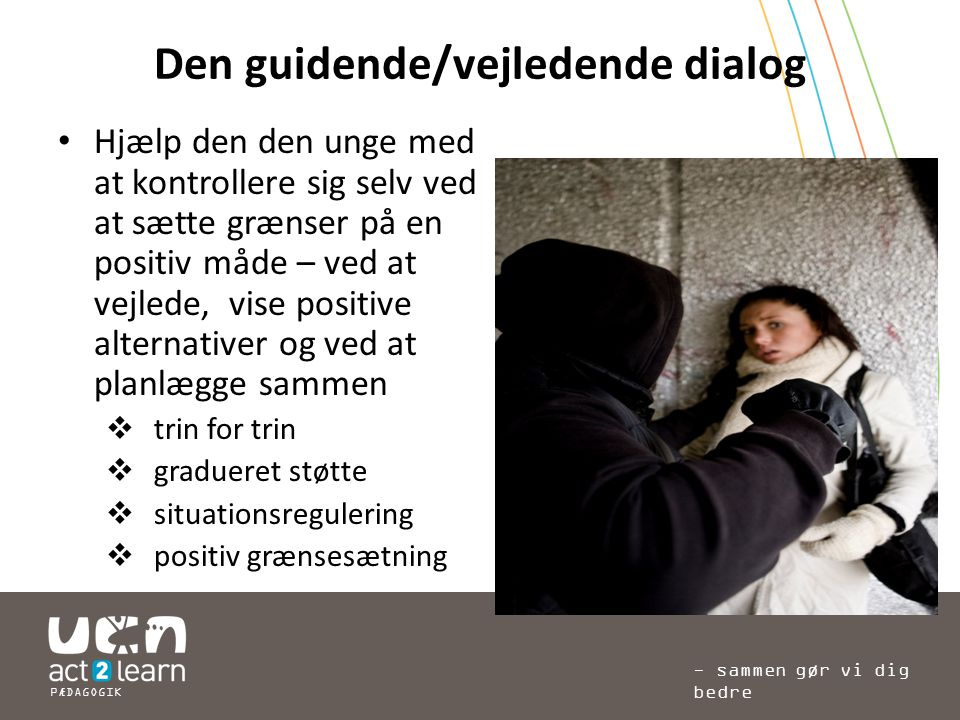 Den guidende/vejledende dialog