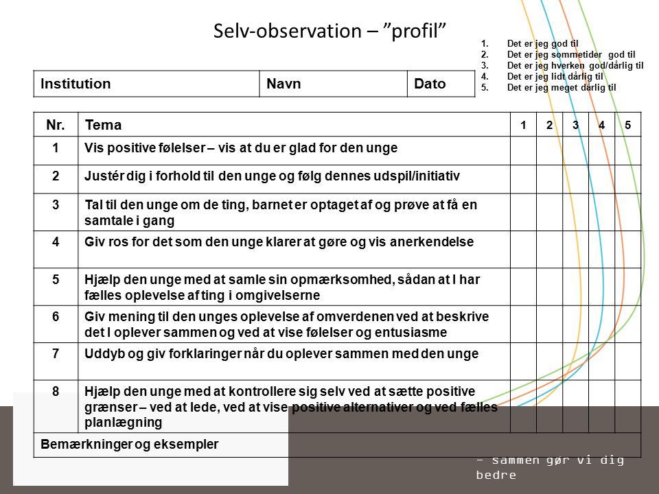 Selv-observation – profil