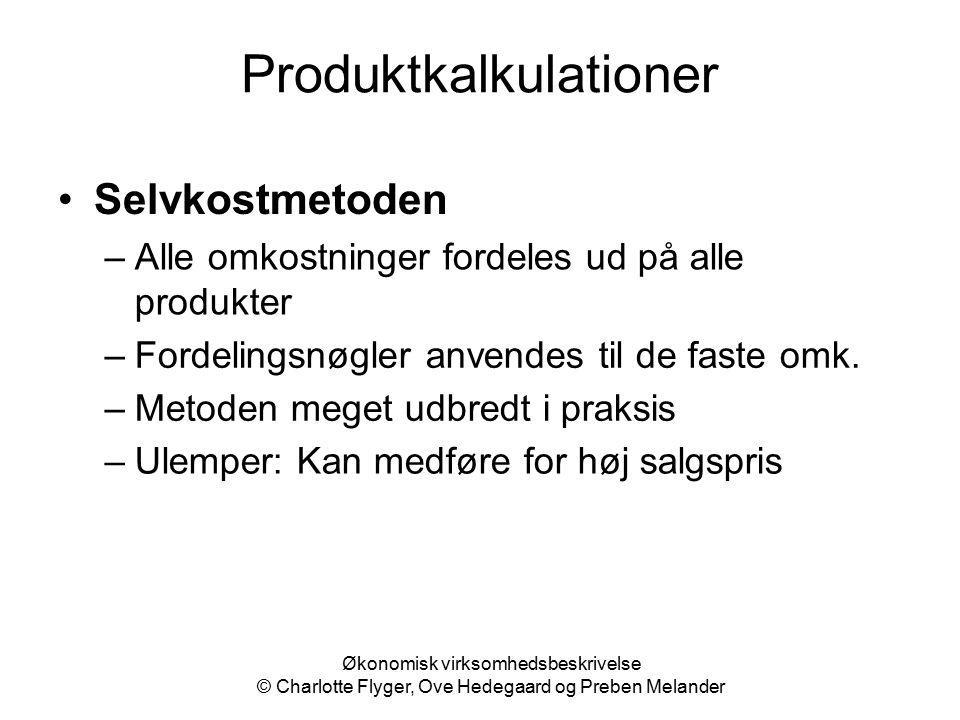 Produktkalkulationer