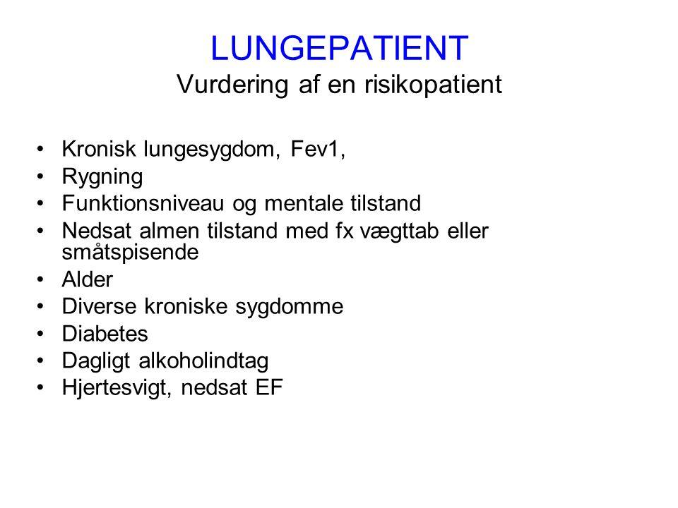 LUNGEPATIENT Vurdering af en risikopatient