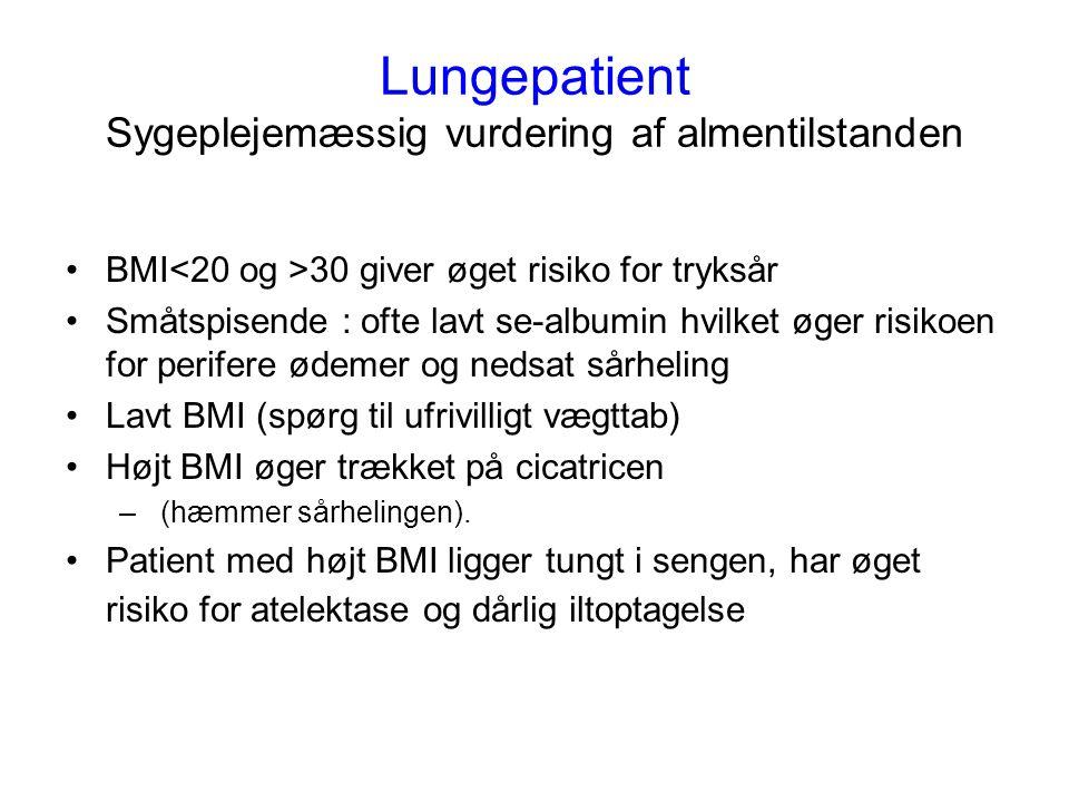 Lungepatient Sygeplejemæssig vurdering af almentilstanden