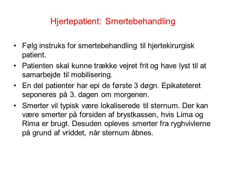 Hjertepatient: Smertebehandling