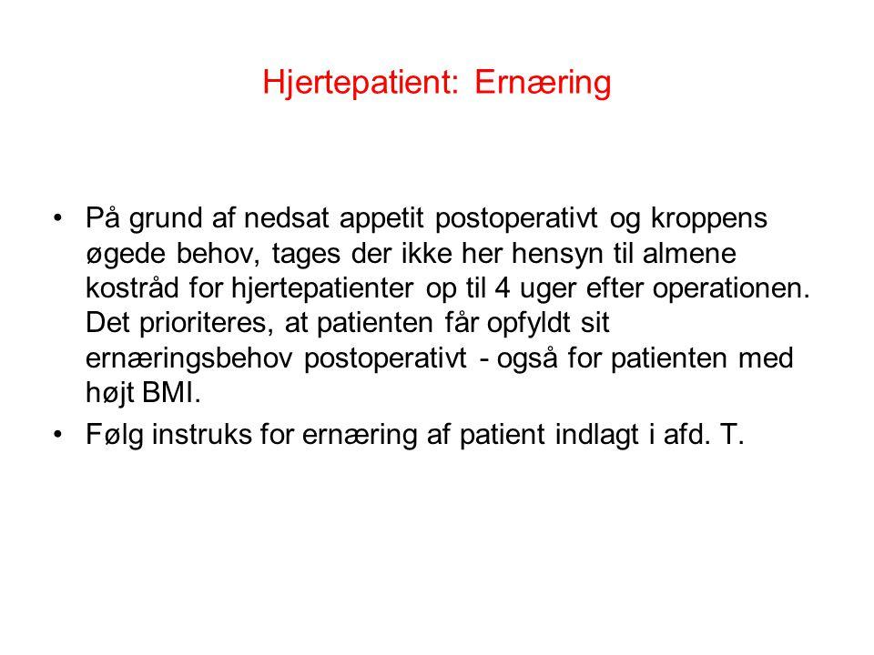 Hjertepatient: Ernæring