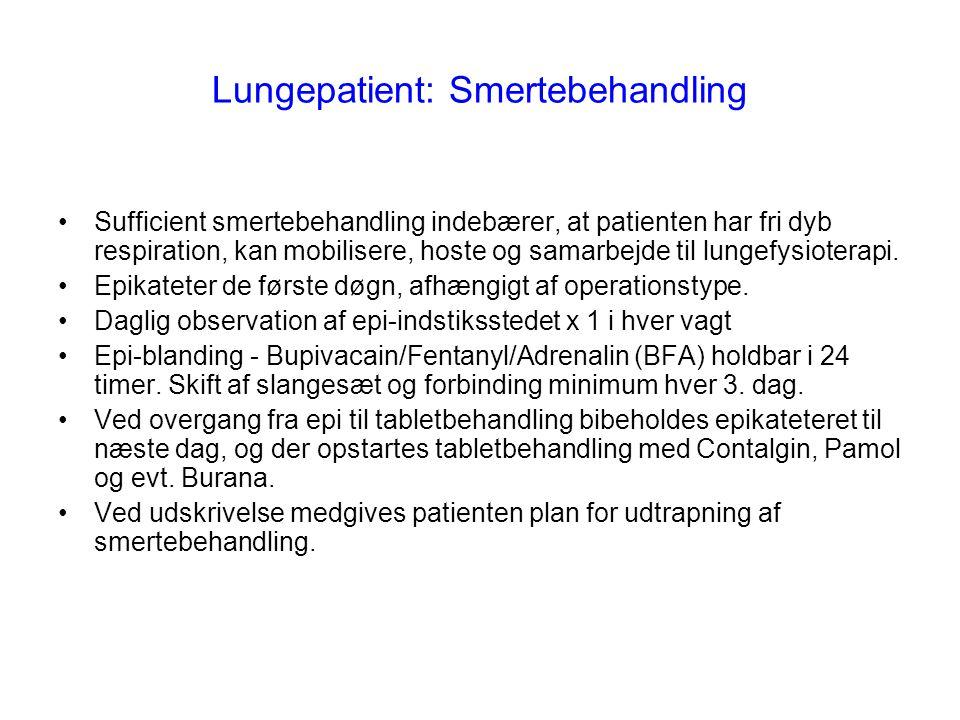 Lungepatient: Smertebehandling