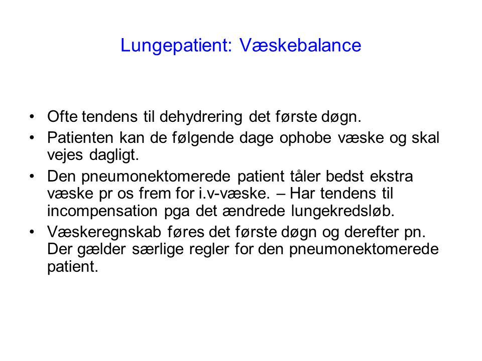 Lungepatient: Væskebalance