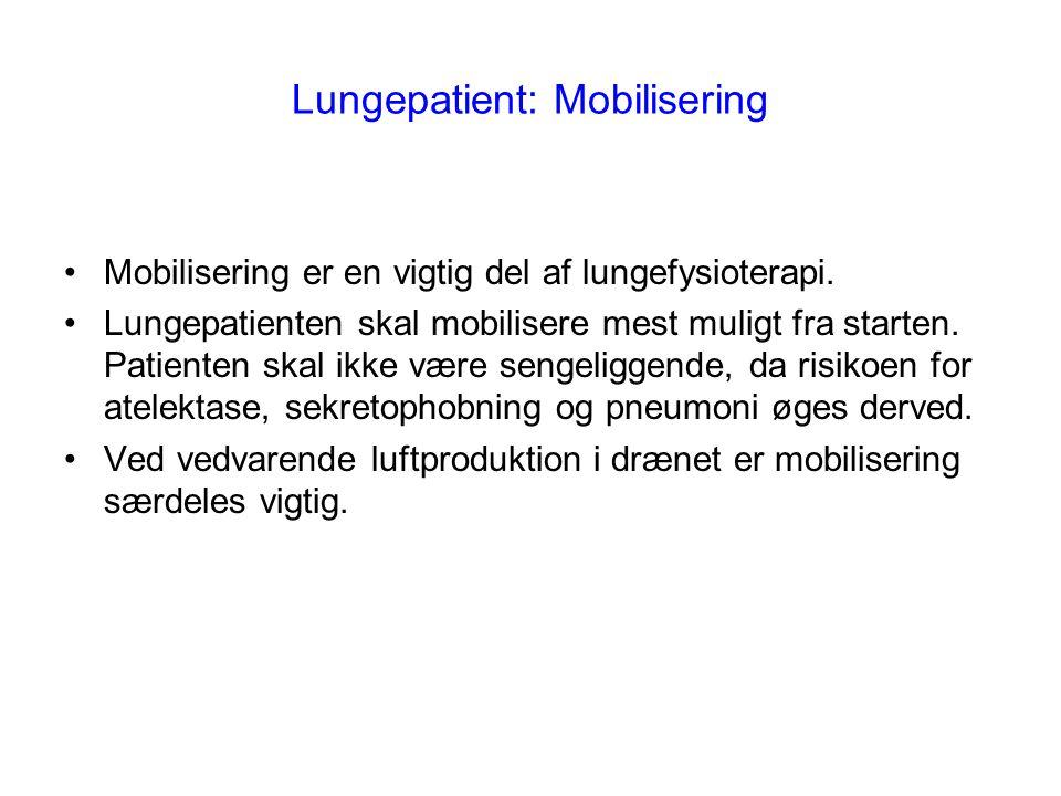 Lungepatient: Mobilisering