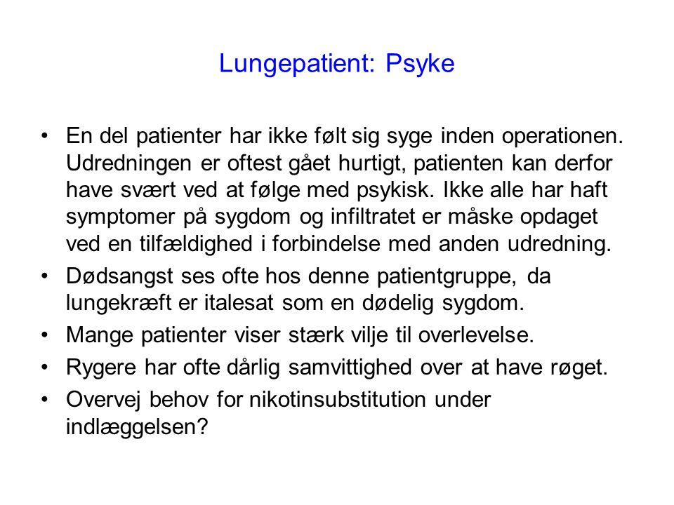 Lungepatient: Psyke