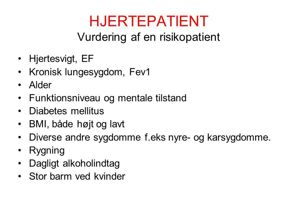 HJERTEPATIENT Vurdering af en risikopatient