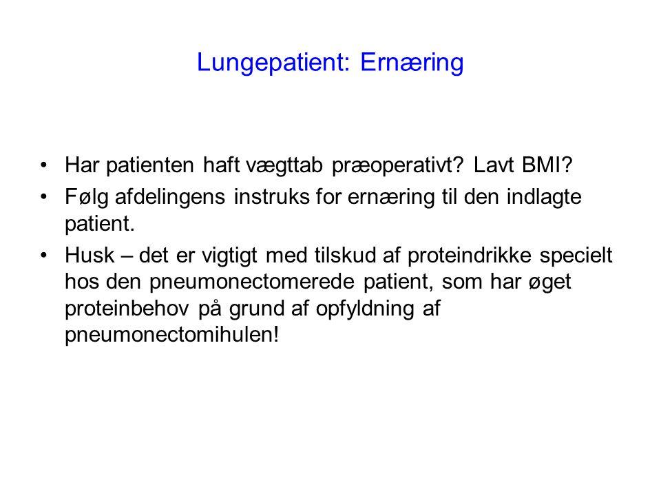 Lungepatient: Ernæring