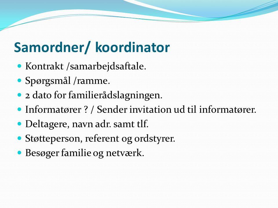 Samordner/ koordinator