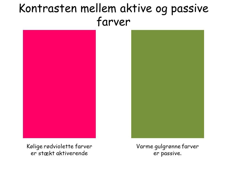 Kontrasten mellem aktive og passive farver