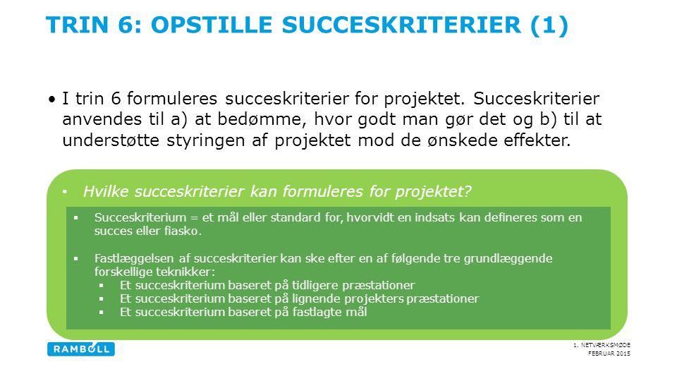 Trin 6: Opstille succeskriterier (1)