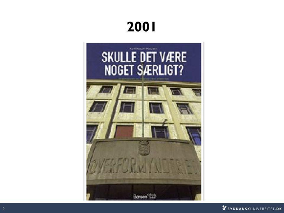 2001 Bogen Insisterer på, at den offentlige sektorkontekst er særegen