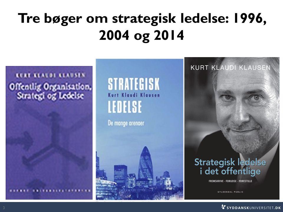 Tre bøger om strategisk ledelse: 1996, 2004 og 2014