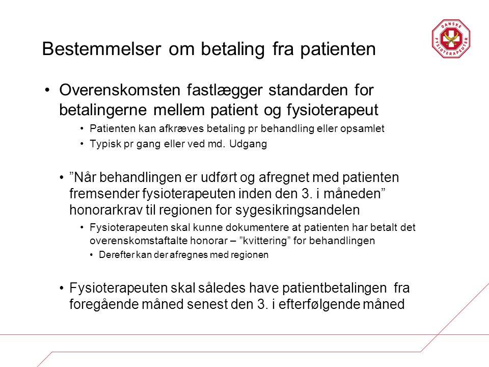 Bestemmelser om betaling fra patienten