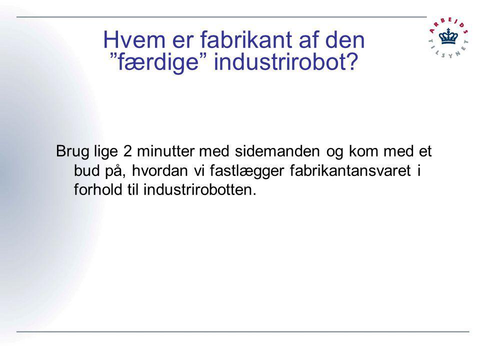 Hvem er fabrikant af den færdige industrirobot