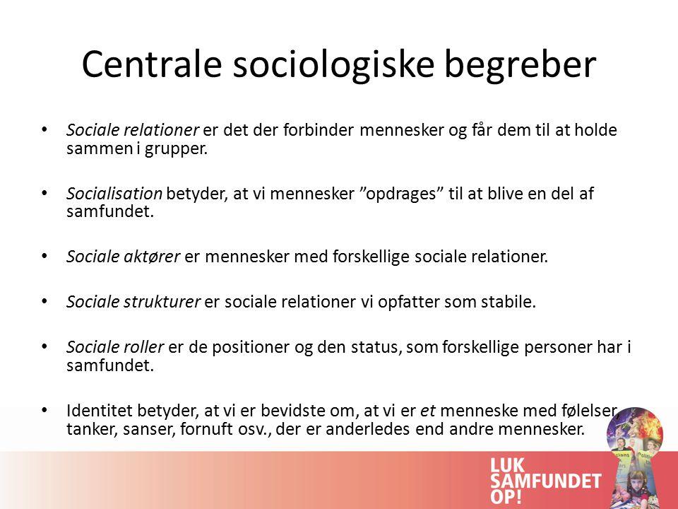 Centrale sociologiske begreber