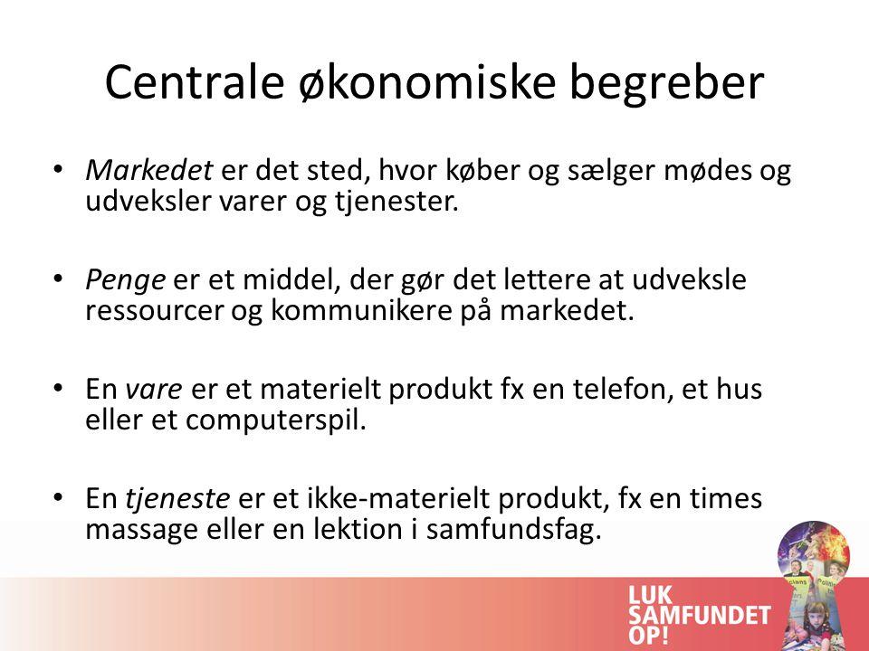 Centrale økonomiske begreber