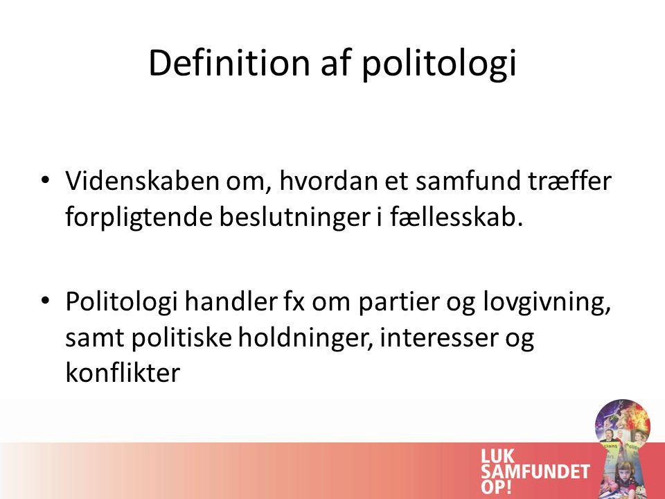 Definition af politologi