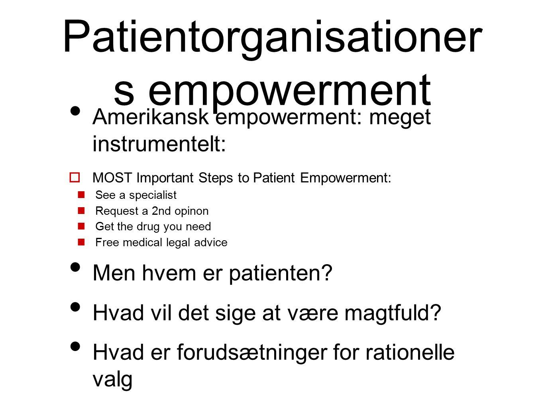 Patientorganisationers empowerment