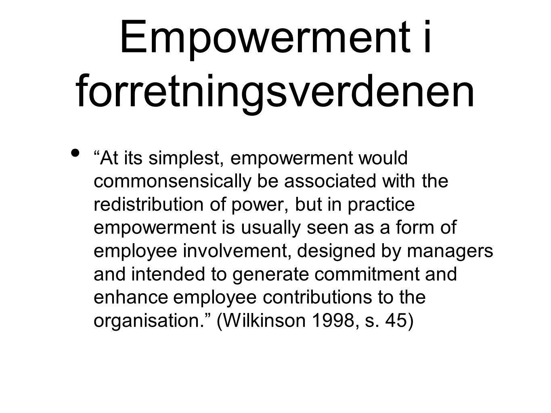 Empowerment i forretningsverdenen