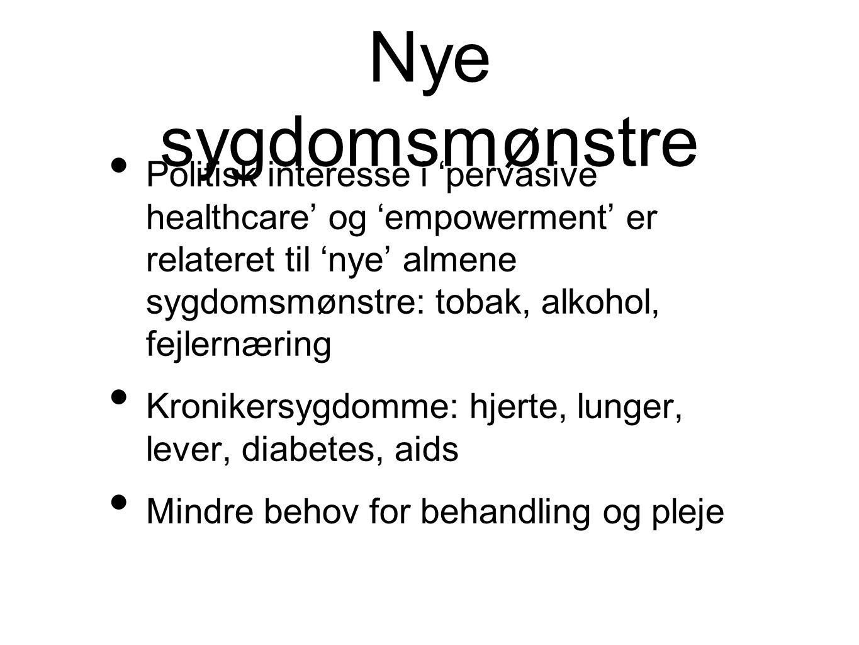 Nye sygdomsmønstre