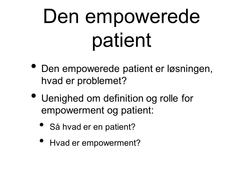 Den empowerede patient