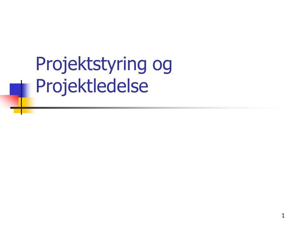 Projektstyring og Projektledelse