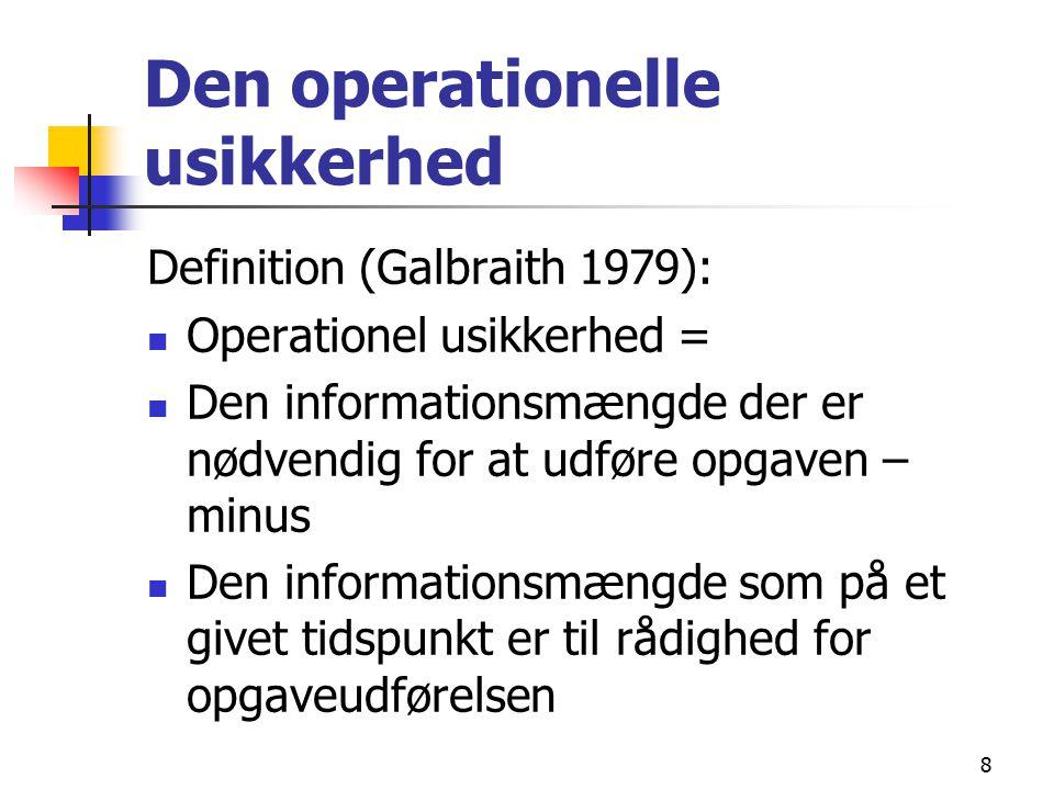 Den operationelle usikkerhed