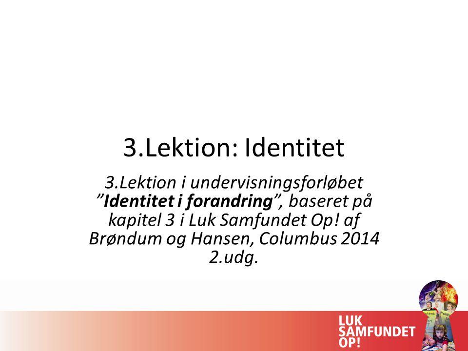3.Lektion: Identitet