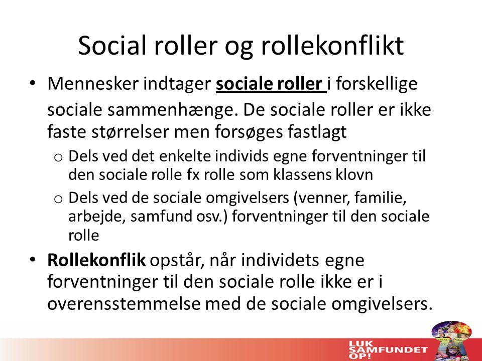 Social roller og rollekonflikt