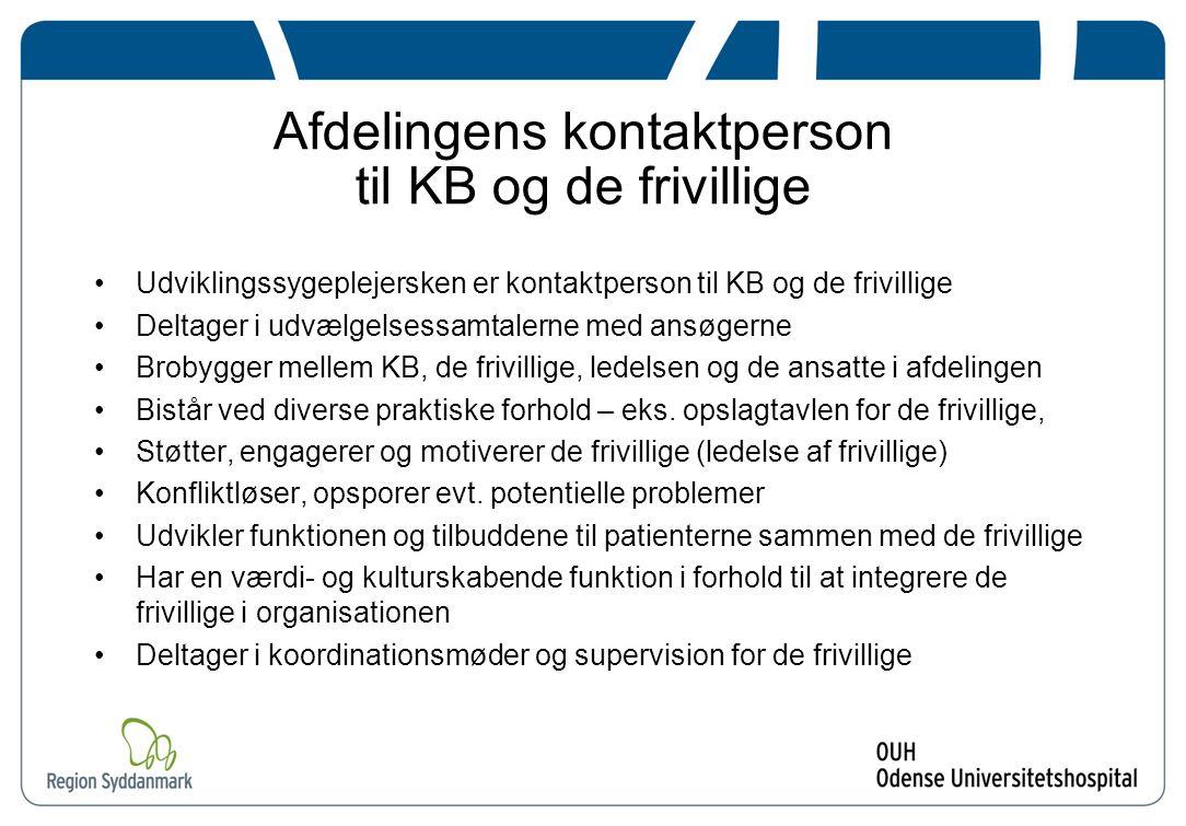 Afdelingens kontaktperson til KB og de frivillige