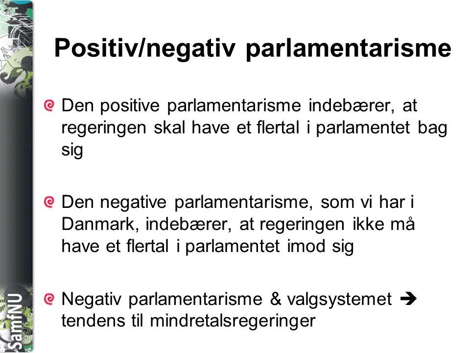 Positiv/negativ parlamentarisme