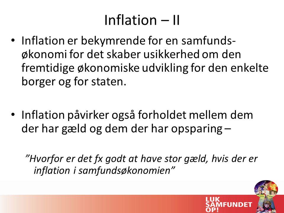 Inflation – II